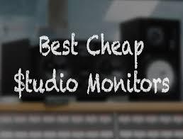 8 Best Cheap Studio Monitors Under $100 – (2017)